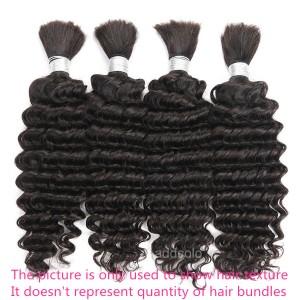【Addcolo 8A】Bulk Human Hair for Braiding Brazilian Hair Deep Wave