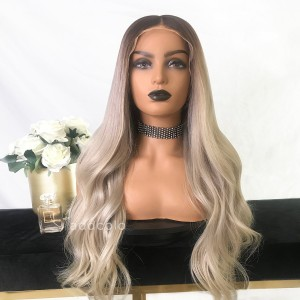 Erica Virgin Hair Full Lace Wigs T4/Silver Gray