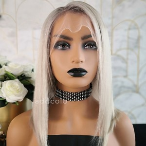 Felicia Virgin Hair Full Lace Wigs T1B/Gray