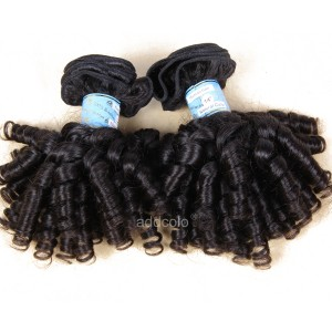 【Addcolo 8A】Hair Weave Natural Color Brazilian Romance Curly Hair Bundles