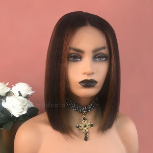 Heidi Virgin Hair Lace Front Wigs #1B/30 Balayage