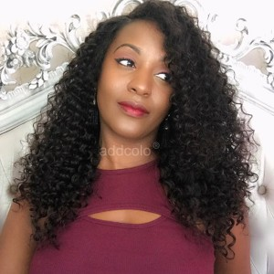 【Wigs】Full Lace Wigs Brazilian Hair Kinky Curly Wig Natural Color