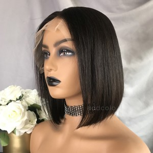 Kayla Unprocessed Virgin Hair Lace Front Wigs Natural Black