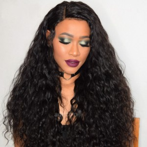 Human Hair Lace Front Wig Natural Color Brazilian Hair Loose Curly Wig