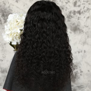 Loose Curly Human Hair Half Wigs Natural Color Brazilian Hair Machine Made Wigs
