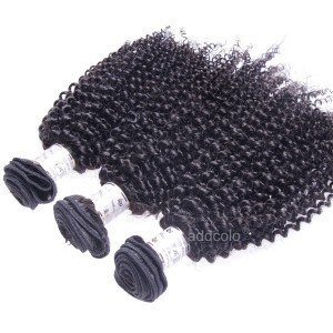 【Addcolo 8A】Hair Weave Natural Color Indian Kinky Curly Hair Bundles
