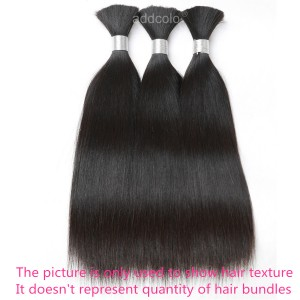 【Addcolo 10A】Bulk Human Hair for Braiding Silky Straight Brazilian Hair