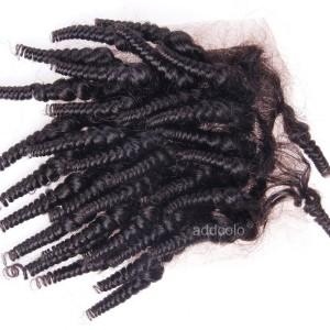 "【Closures】4""x4"" Lace Closure Brazilian Hair Tight Curly Hair Closure"