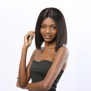 Vicky Virgin Hair Lace Front Wigs Natural Black