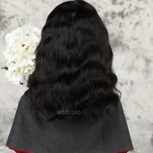 Loose Wavy Bob Human Hair Half Wigs Natural Color Brazilian Hair Machine Made Wigs