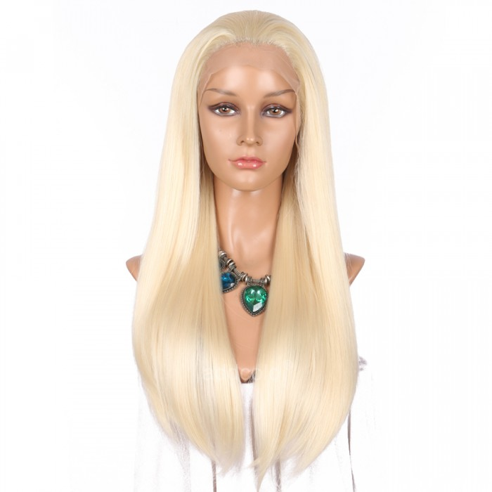 Synthetic Wigs Straight Color 613 Lace Front Wig