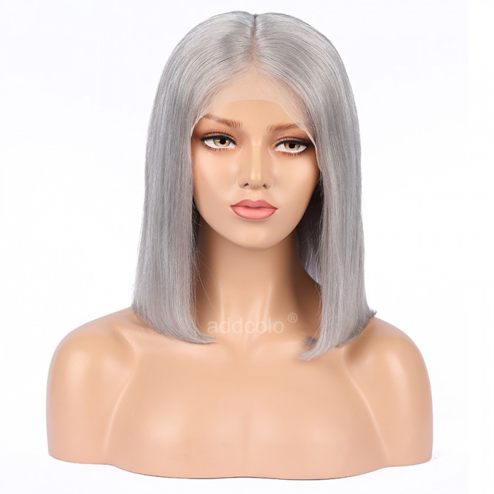 5bf69a39b Silver Grey Wigs Bob Straight & Wavy 2019 Summer Best Fashion Colorful Lace  Front Wigs