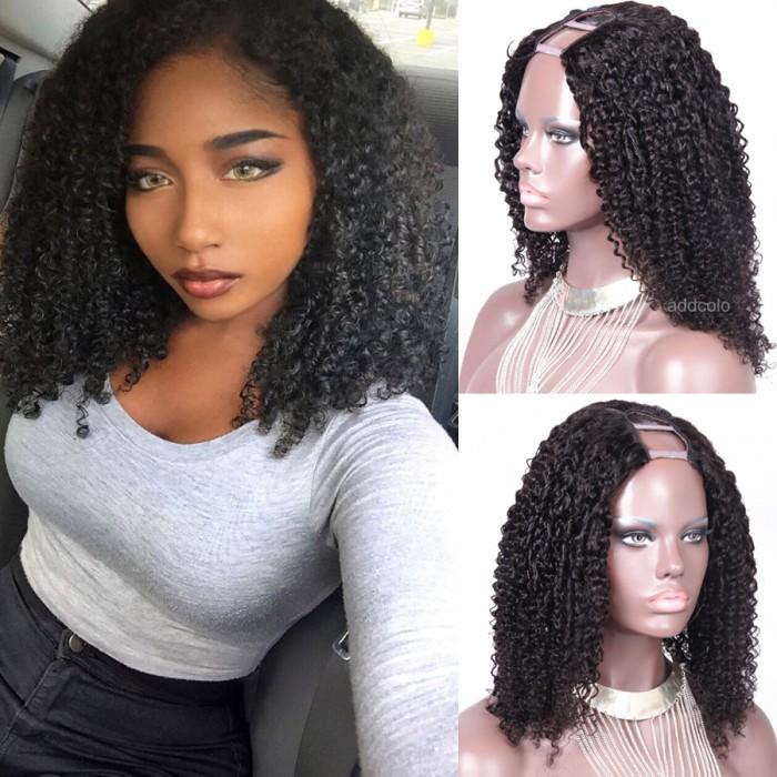 150% Heavy Density Tight Curly U Part Wig