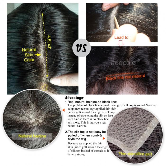 Silk Base Wig Brazilian Hair Natural Wave Wig Natural Color