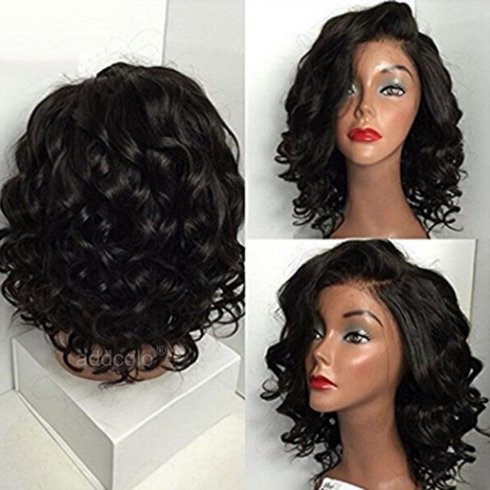 Wigs 360 Lace Frontal Wigs Brazilian Hair Short Curly Wig Natural Color