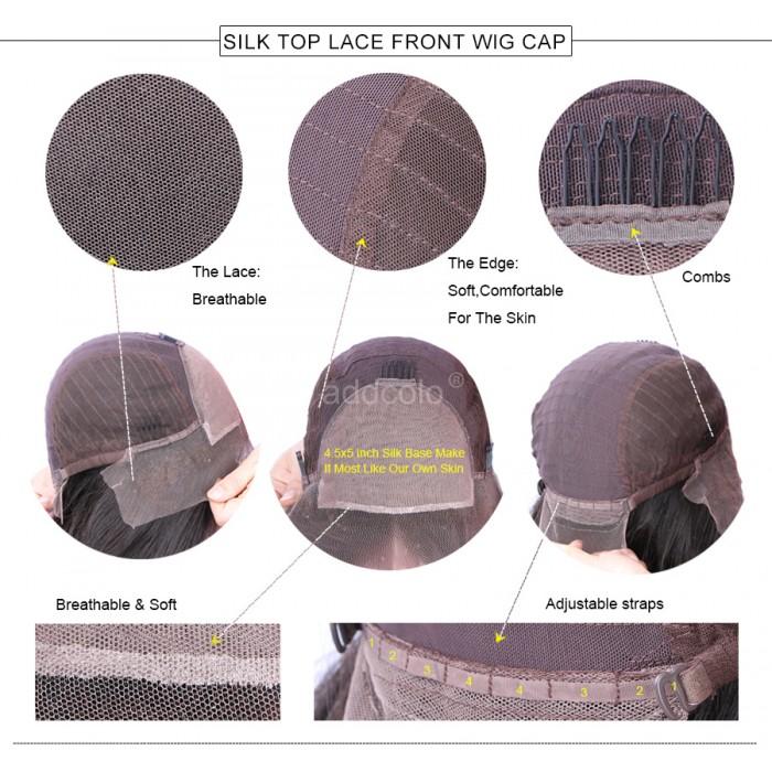 c8590fd5a Silk Top Wigs Brazilian Hair Deep Wave Lace Front Human Hair Wigs for Black  Women