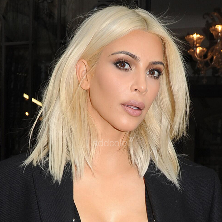 kim kardashian human hair wigs instock blonde color