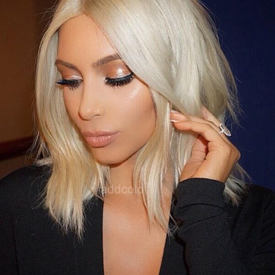 Kim Kardashian Human Hair Wigs Instock Blonde Color